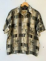 Vintage Callan Mens Short Sleeve Shirt Size L Retro Party Festival Aust. made