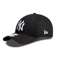 Era 39thirty NY Yankees White on Black Stretch Fit Curve Peak Hat Cap S/m