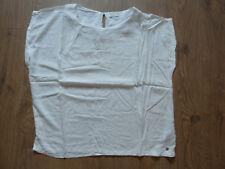 zarte Kurzarm Bluse in weiß elfenbein von Jake s  in Gr. 44  neu