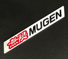 3D MUGEN Car Trunk Spoiler Lip Emblem Badge Sticker Decal Alumnium Red/Black x1