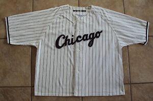 CHICAGO WHITE SOX STARTER GENUINE MLB PINSTRIPE BASEBALL JERSEY MEN XL
