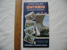 1967 Official Road Map Ontario Province Of Opportunity Centennial Year