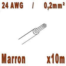 Fil de cablage 24AWG / 0,2mm² Marron 10m
