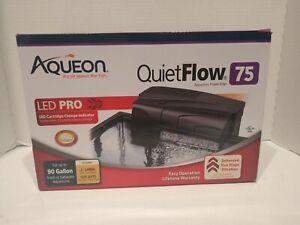 Aqueon QuietFlow 55 & 75 LED Pro Aquarium Power Filter for tank up to 90 Gallons