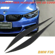 FOR BMW F30 3 SERIES 328i CARBON FIBER HEADLIGHT EYE LID COVER PAIR EYEBROWS
