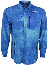 Pelagic Eclipse Pro 2.0 Long Sleeve Performance Guide Shirt UPF 50+ Blue $89