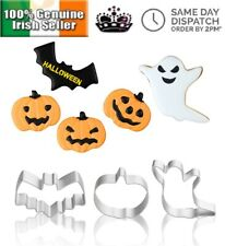 3PC Halloween Ghost Bat Pumpkin Cookie Cutter Mold Tool Biscuit Pastry Cake Set