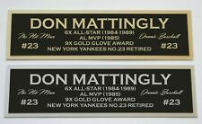 Don Mattingly Nameplate for signed autographed baseball jersey photo glove bat