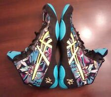Boys/Mens Size 8.5 Asics Comic Cartoon JB V2.0 Wrestling Shoes Nice! J501Q