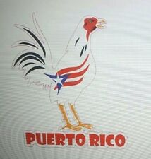 PUERTO RICO ROOSTER with PR  BORICUA FLAG COLORS Decal Sticker