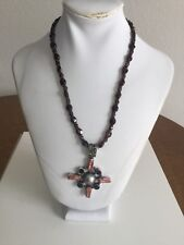 Crystal And Freshwater Pearl Sterling 925 Necklace EUC