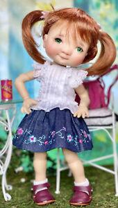 "Boneka 24cm 2 Piece Embroidered skirt Lace Top 4 11"" My Meadow Dumpling Dolls"