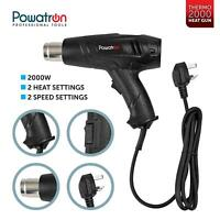 2000W Electric Heat Gun Hot Air Blower Professional DIY Tools 4 Nozzles