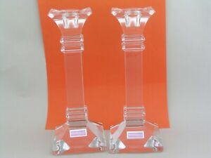 "PAIR OF WATERFORD MARQUIS 8"" CANDLESTICKS."