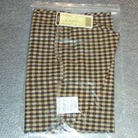 Longaberger Khaki Check LARGE DESKTOP Basket Liner ~ Brand New in Original Bag!