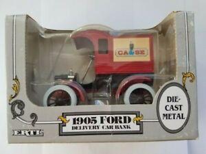 Vintage ERTL 1905 Ford CASE Delivery Car Die Cast 1/25 Bank, NOS In Box,