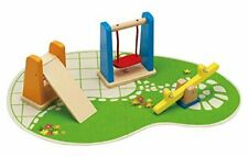 Hape E3461  Wooden Doll House Furniture Playground Set And Accessories Doll...