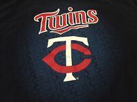 Minnesota Twins Large Navy T Shirt MLB Genuine Merchandise