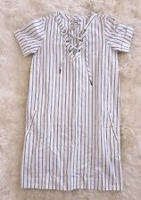 NWT Madewell By J Crew Harbor Lace-Up Shift Dress Sz XXS F2186 $110 SOLD OUT!