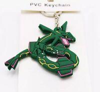 "Pokemon Rayquaza Rubber Keychain 2.5"" US Seller"
