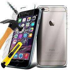 HOUSSE COQUE GEL SILICONE TPU iPhone 5S 6 6S 7 7 Plus + FILM VITRE VERRE TREMPE