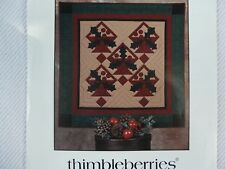 Holly Baskets Holiday Christmas Wall Hanging Quilt Sewing Pattern Thimbleberries
