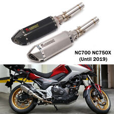 Motorcycle Exhaust Tips Silencer + Modified Mid Link Pipe for Honda NC700 NC750X