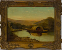 C.L - Ornately Framed Late 19th Century Oil, A River Landscape