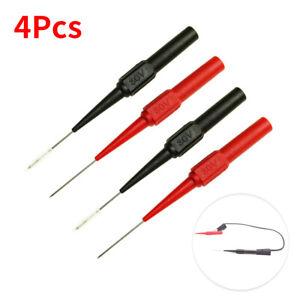 4pcs Multimeter Testing Lead Fluke Extention Back Probes Sharp Needle Micro Pin