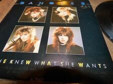 1986 7 INCH SINGLE THE BANGLES-IF SHE KNEW  WHAT SHE WANTS-VG CON.