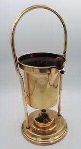 Antique Aesthetic Brass Spirit Burner Marked C D - Christopher Dresser ? 42 cms