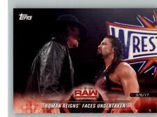 2018 WWE Road to Wrestlemania #17 Undertaker Roman Reigns