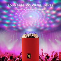 Wireless Bluetooth Speaker USB TF FM U Disk LED Light Hands-Free Calls MP3 RGB