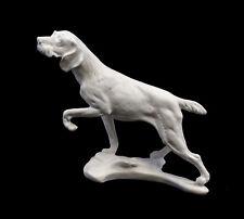 9959260 Porzellan Figur Hund Jagdhund weiß bisquit  Ens 20x24cm