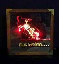 Harley Annheiser RARE Lighted Wall Sign 1960's Signed Ride American Motorcycle