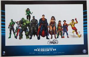SIGNED GENE LUEN YANG (Superman) WONDERCON Exclusive DC UNIVERSE REBIRTH Print