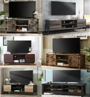 Media Console TV Stand for Flat Screen Up To 65 Farmhouse Entertainment Center