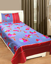 Homefab India 3D Printed PolyCotton Single Bed-Sheet (Single195)