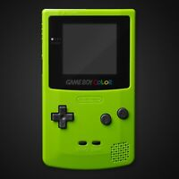 Game Boy Color Housing Shell Apple Green Repair Kit Case Nintendo Contact Pads