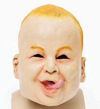 Scary Baby Boy Rubber Mask Halloween Chucky Fancy Dress