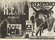 6/8/83PN11 ADVERT: R.E.M. & FLESHTONES ALBUMS FROM I.R.S 7X11