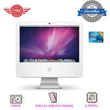 "Apple iMac A1195 17"" Core 2 Duo 1.83GHz 2GB 160GB OSX Lion MA710LL PC Bundle"