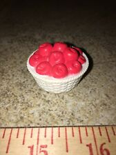 Barbie White Wicker Basket Red Apples Fruit Food Table Accessory Bratz Liv