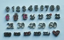 NUMBERS & AGES - Living Memory Floating Locket Charms lockets