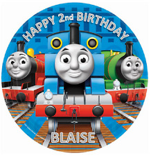 THOMAS BIRTHDAY Personalised Edible Icing Cake Topper Decoration Images