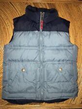 Lands' End Kids Boys Size Medium 5-6 Down Puffer Vest Two Toned Blue Pockets EUC
