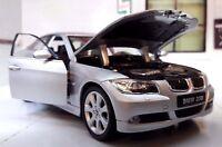 1:24 Echelle BMW Série 3 330i E90 détaillé Welly Voiture Miniature Argent 22465