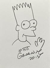 Matt Groening The Simpsons 'Bart' Sketch Doodle 10x8 Art Drawing Signed