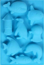 Dolphin Marine Fish Whale Silicone Mold for Fondant Chocolate Crafts