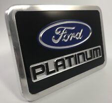 """Ford Platinum Premium Trailer Tow Hitch Cover Plug (Billet Aluminum 2"""" 2.5"""")"""